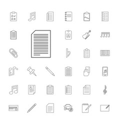 note icons vector image