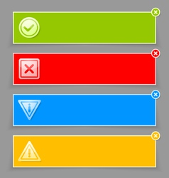 Notification banners vector