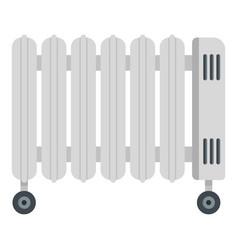 Oil radiator icon flat style vector