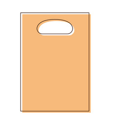 paper bag icon with handle in watercolor vector image