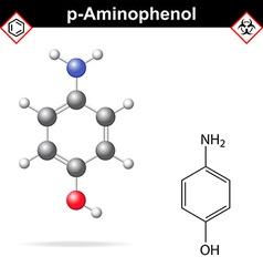 Para aminophenol molecule vector