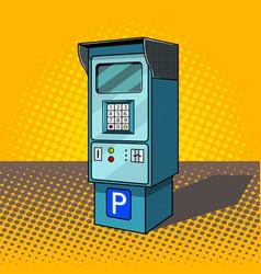 Parking meter pop art style vector