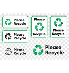 please recycling sign for public places recycle vector image