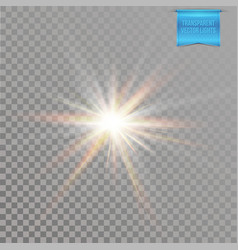 realistic vivid and glowing sun star burst vector image