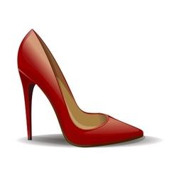 Red women shoe vector