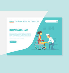rehabilitation landing page physiotherapy vector image
