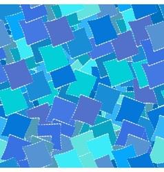 Retro geometric seamless patternof blue squares vector image