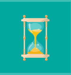 Retro isolated sandglass vector
