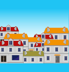 Roofs of the big city vector