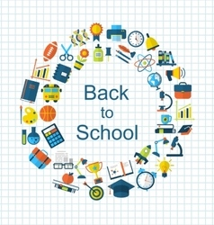 School Colorful Simple Objects and Elements vector image