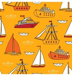 seamless marine pattern vector image
