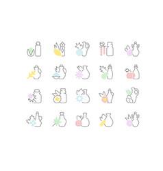 set line icons oils vector image