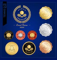 set of tennis badge label or emblem for sport vector image vector image