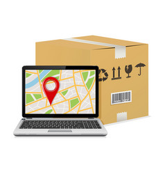 shipping parcel tracking order design vector image
