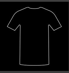 Shirt the white path icon vector