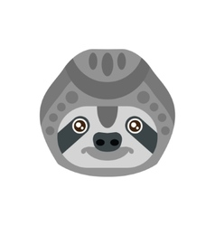 Sloth African Animals Stylized Geometric Head vector image