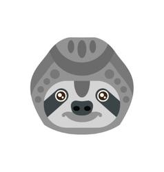 Sloth african animals stylized geometric head vector