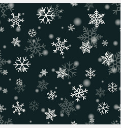 Snowflake on winter gray sky background vector