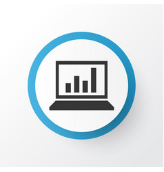 statistics icon symbol premium quality isolated vector image