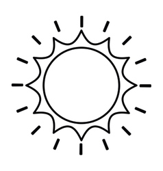 Sun drawing isolated icon design vector