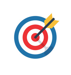 target challenge objective icon vector image
