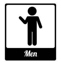 Toilet label design vector