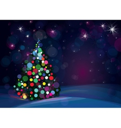 Tree lights background vector