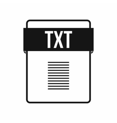 TXT file icon simple style vector image