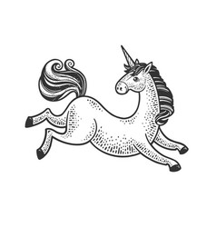 unicorn sketch vector image