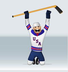 Usa ice hockey team player vector