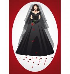 Vampire bride vector