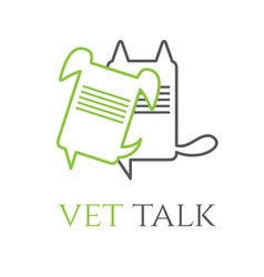 Veterinary talk design template vector