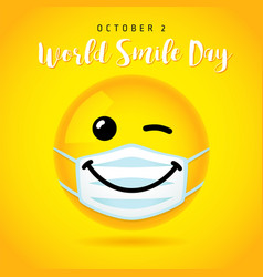world smile day october 2 wink banner vector image