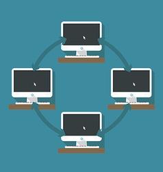 Abstract computer network scheme vector image