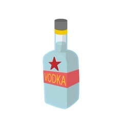 Bottle of vodka icon cartoon style vector image vector image