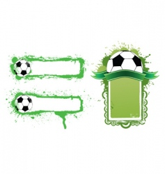 grunge soccer banners vector image