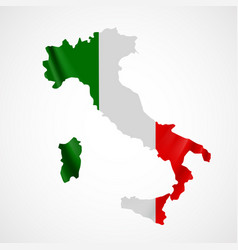 hanging italy flag in form of map italian vector image