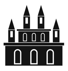 medieval castle icon simple style vector image