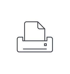 printer thin line icon linear symbol vector image vector image