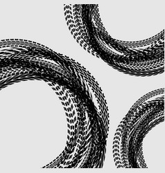 tire track circle background vector image
