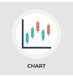 Chart flat single icon vector image vector image