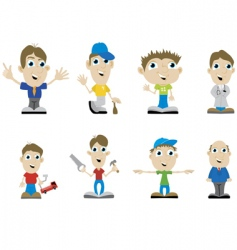 miscellaneous guys vector image vector image