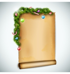 Old Christmas Sheet Of Paper vector image vector image