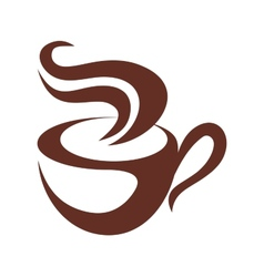 Brown and white coffee or tea icon vector image vector image