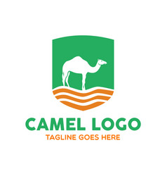 camel logo-7 vector image vector image