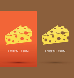 cheese logo vector image vector image