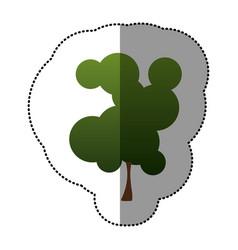 color beautiful tree icon vector image vector image
