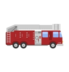 Detailed of fire truck vector image vector image
