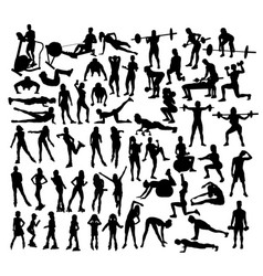 Roller skates and gym fitness activity vector