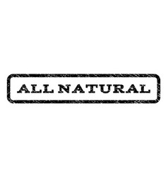 all natural watermark stamp vector image